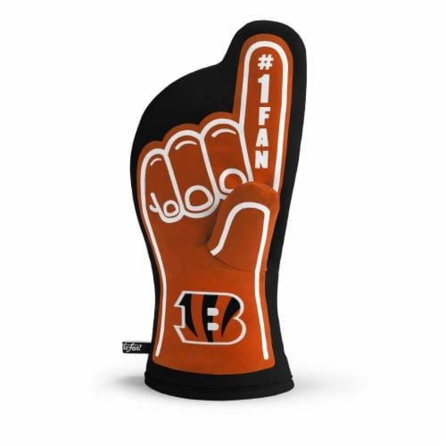 Cincinnati Bengals No. 1 Oven Mitt Perspective: front
