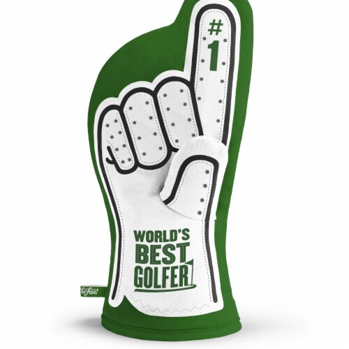 YouTheFan 5025891 Golfer No. 1 Oven Mitt Perspective: front