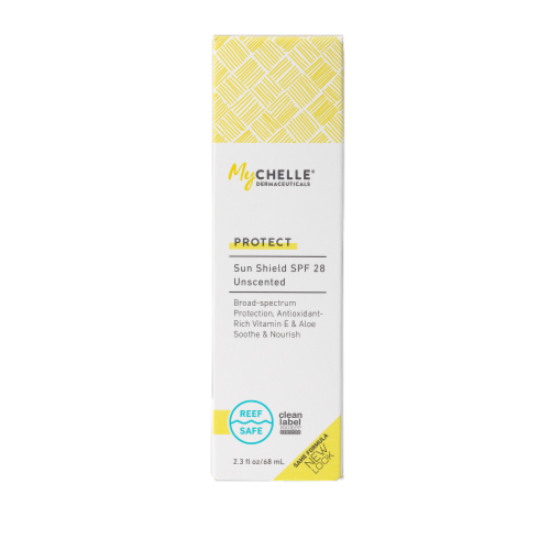 Mychelle Natural Skin Care Sun Shield Unscented SPF 28 Perspective: front