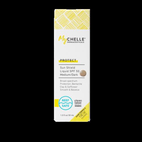 MyChelle Dermaceuticals Natural Tan Sun Shield Liquid Tint SPF 50 Perspective: front
