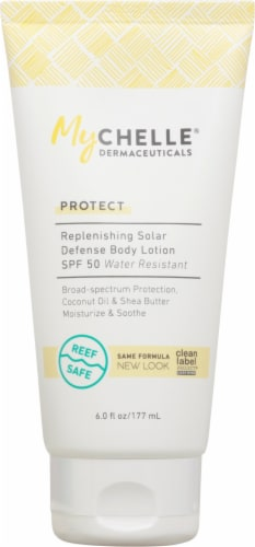 MyChelle Dermaceuticals Protect Replenishing Solar Defense Body Lotion SPF 50 Perspective: front