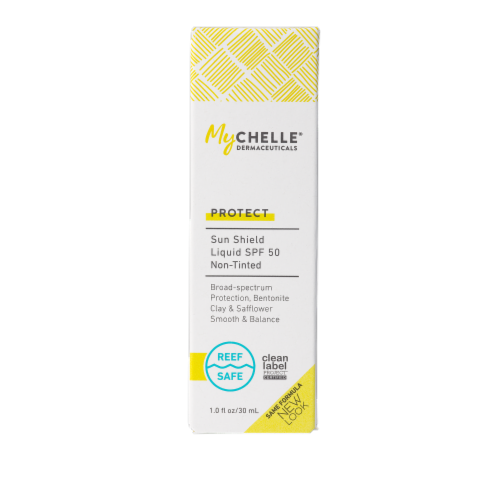 MyChelle Dermaceuticals Non-Tinted Liquid Sun Shield SPF 50 Perspective: front