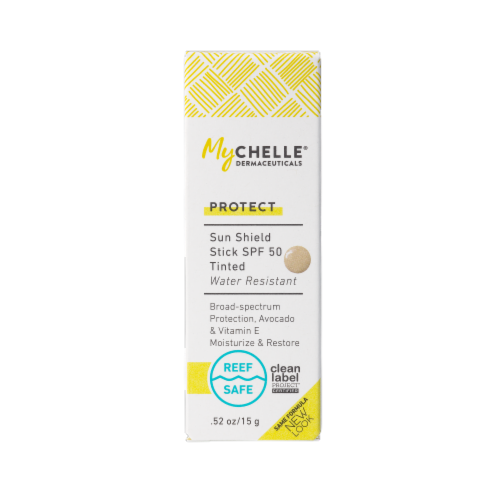 MyChelle Natural Skin Care Sun Shield Stick SPF 50 Perspective: front