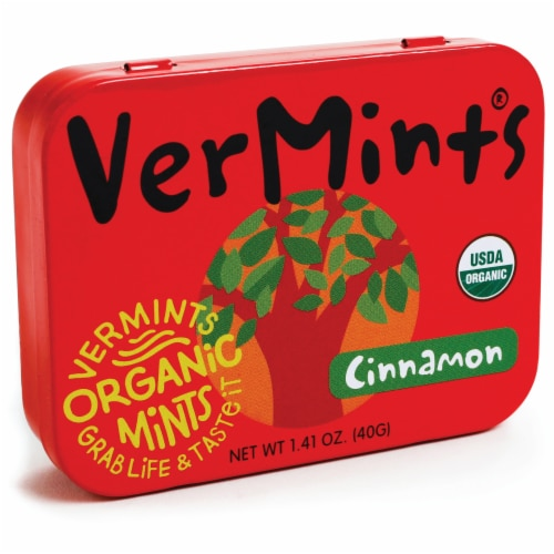 VerMints CinnaMint Organic Mints Perspective: front