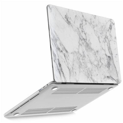 iBenzer Laptop Case for MacBook Pro Touch Bar & Non-Touch Bar - White Marble Perspective: front