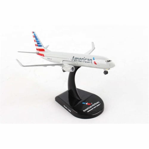 Postage Stamp Planes PS5815-2 1-300 AA American Airlines Boeing 737-800 Model Airplane Perspective: front