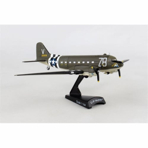 Postage Stamp Planes PS5558-3 1 by 144 Scale C47 Tico Belle Model Airplane Perspective: front