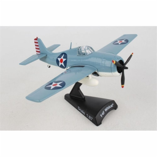 Postage Stamp Planes PS5351-2 1 by 87 Scale F4F Wildcat Model Aircraft Perspective: front