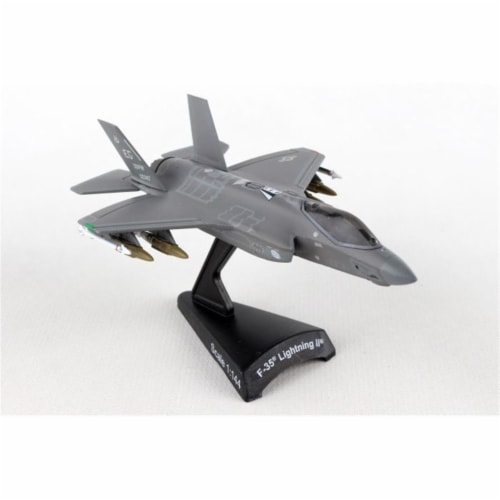 Postage Stamp Planes PS5602 F-35 Lightning II 58th FS Scale 1 by 144 USAF Diecast Model with Perspective: front