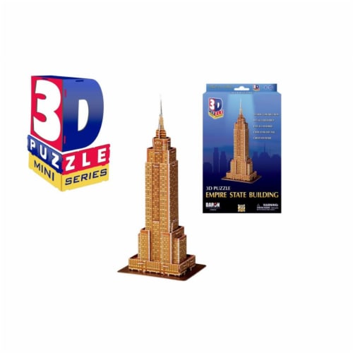 Daron Worldwide Trading CHB250 Mini Empire State Building 3D Puzzle - 39 Piece Perspective: front