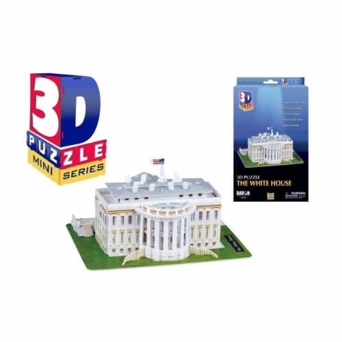 Daron Worldwide Trading CHB257 Mini White House 3D Puzzle - 35 Piece Perspective: front