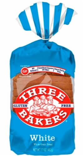 Three Bakers Whole Grain White Bread Perspective: front