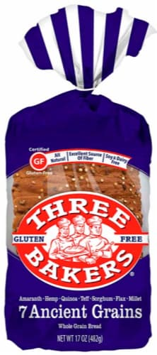 Three Bakers 7 Ancient Grains Bread Perspective: front
