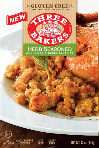 Three Bakers Herb Seasoned Gluten Free Stuffing Perspective: front