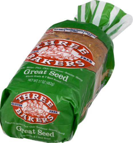 Three Bakers Great Seed Bread Perspective: front