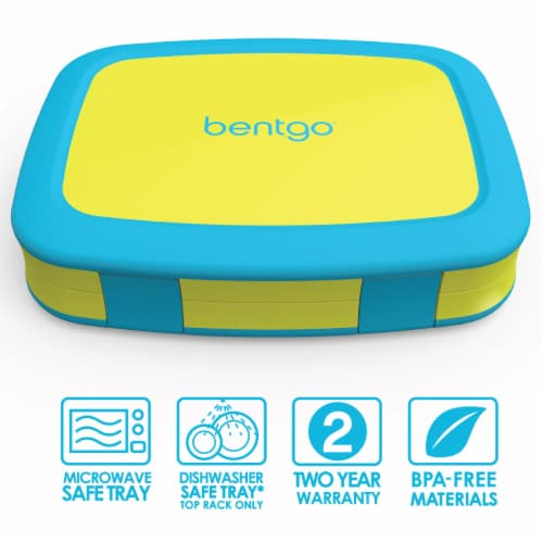Bentgo Kids Brights Durable & Leak Proof Children's Lunch Box - Citrus Yellow Perspective: front
