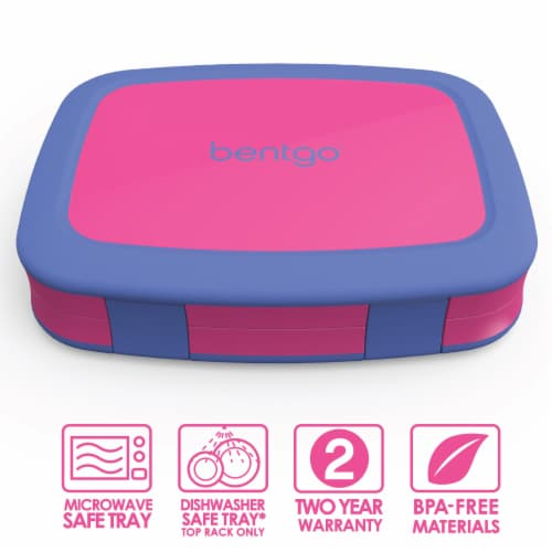 Bentgo Kids Durable & Leak Proof Children's Lunch Box - Fuchsia Perspective: front