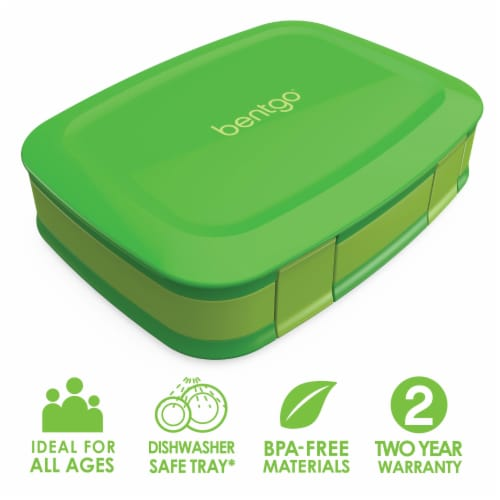 Bentgo Fresh Leak-Proof & Versatile Compartment Lunch Box - Green Perspective: front