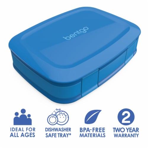 Bentgo Fresh Leak-Proof & Versatile Compartment Lunch Box - Blue Perspective: front