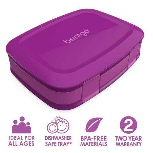 Bentgo Fresh Leak-Proof & Versatile Compartment Lunch Box - Purple Perspective: front
