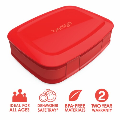 Bentgo Fresh Leak-Proof & Versatile Compartment Lunch Box - Red Perspective: front