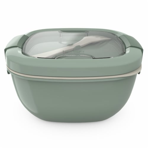 Bentgo Salad On-The-Go Food Container - Khaki Green Perspective: front