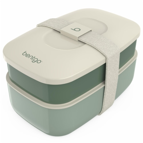 Bentgo Classic On-The-Go Food Container - Khaki Green Perspective: front
