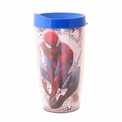 Silver Buffalo 16 oz Spiderman Tumbler Perspective: front