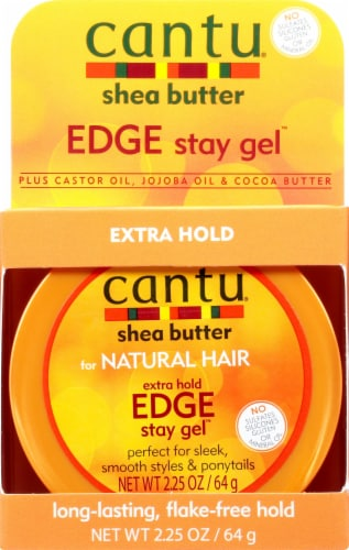 Cantu Shea Butter Extra Hold Edge Stay Gel Perspective: front