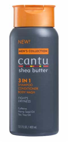 Cantu Men's Shea Butter 3-In-1 Shampoo Conditioner and Body Wash Perspective: front