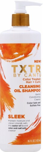 Cantu TXTR Sleek Cleansing Oil Shampoo Perspective: front