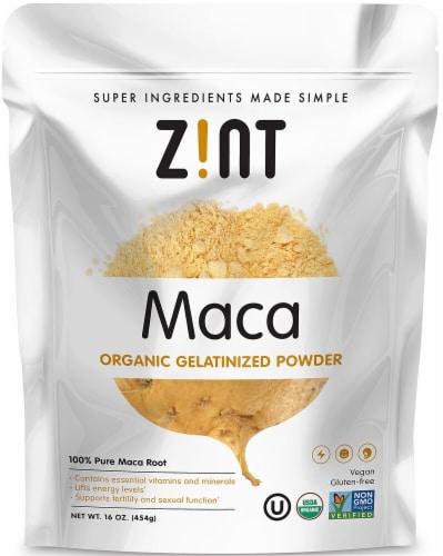 Zint  Organic Gelatinized Maca Powder Perspective: front