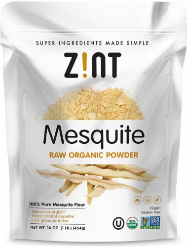Zint  Mesquite Raw Organic Powder Perspective: front