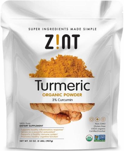 Zint  Turmeric Organic Powder 3% Curcumin Perspective: front