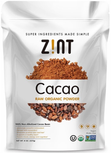 Zint  Cacao Raw Organic Powder Perspective: front