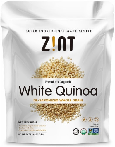 Zint  Premium Organic White Quinoa De-Saponized Whole Grain Perspective: front