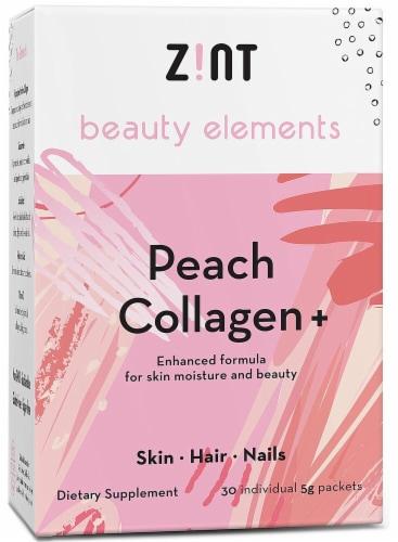 Zint  Beauty Elements Collagen + Enhanced Formula   Peach Perspective: front