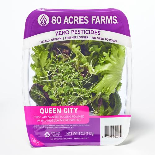80 Acres Farms Queen City Salad Blend Perspective: front
