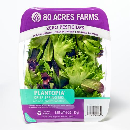 80 Acres Farms Plantopia Salad Blend Perspective: front