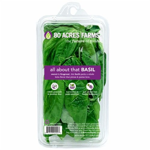 80 Acres Farms Fresh All About That BASIL Perspective: front