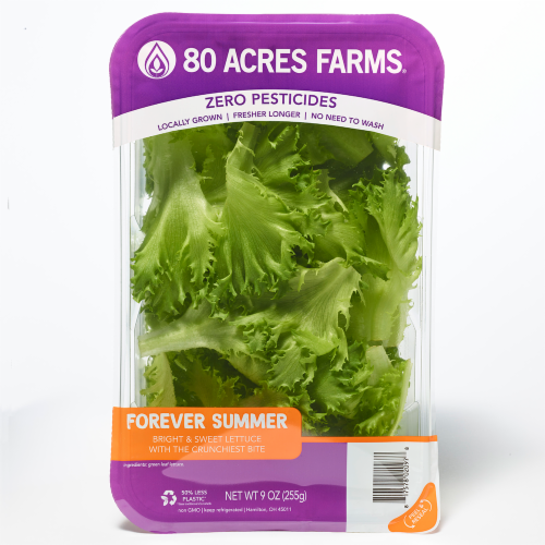 80 Acres Farms Forever SUMMER Salad Blend Mix Perspective: front