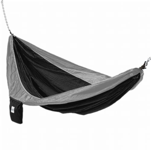 Kings Pond Enterprises 10208-KP Hammaka Parachute Silk Lightweight Portable Double Hammock - Perspective: front