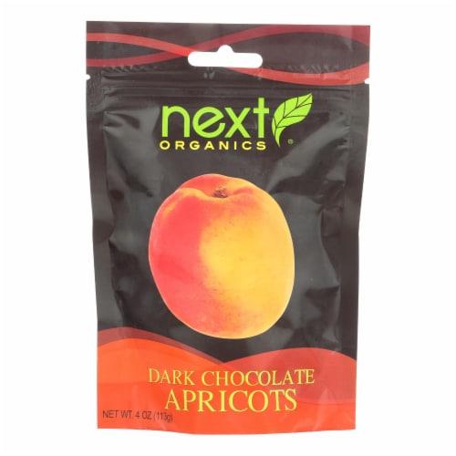 Next Organics Dark Chocolate Apricots Perspective: front
