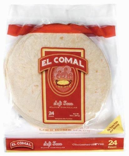 El Comal Soft Taco Tortillas Perspective: front