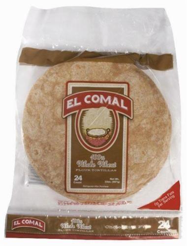 El Comal Whole Wheat Flour Tortillas Perspective: front