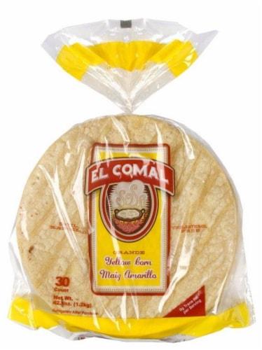 El Comal Yellow Corn Ranch Tortillas Perspective: front