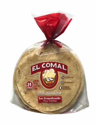 El Comal Flour Tortillas Perspective: front