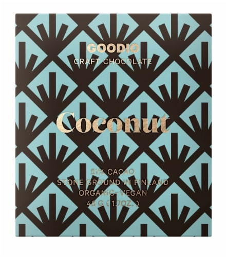 Goodio Coconut 51% Cacao Chocolate Perspective: front