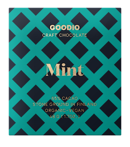 Goodio Craft Chocolate Mint Perspective: front