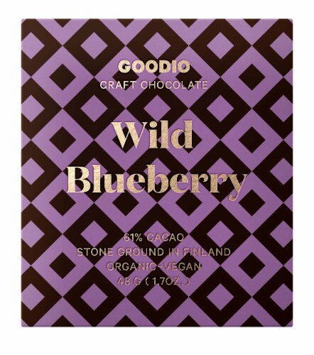 Goodio Chocolate Wild Blueberry 61% Perspective: front